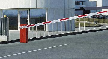 Raised traffic barrier