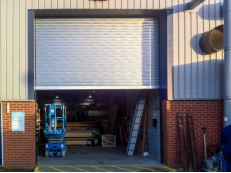 Insulated Roller Shutters with Natural Metallic Finish.
