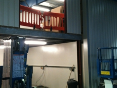 Installation of the two electrically operated and insulated roller shutters.