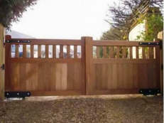Automated Wooden Gate