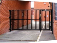 Electric Swing Gate with Pedestrian/Personnel Entry Door