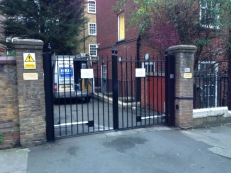 HRD Security installed a double swing gate with anti climb, fully automated with all the required safety devices with remote key fob operation.