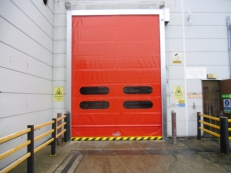 We supplied, delivered and installed two 3-phase electrically operated rapid rolling doors which suited the existing opening.